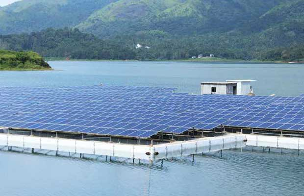 floating solar PV plants on water