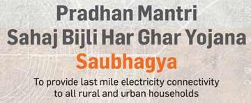 """Pradhan Mantri Sahaj Bijli Har Ghar Yojana – """"Saubhagya"""""""