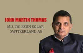 Viz-A-Viz with John Martin Thomas, MD, Talesun Solar, Switzerland AG
