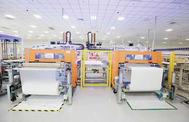 2nd EVA & TPT cutting and layout machine