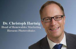Interview with Dr. Christoph Hartnig, Head of Renewables Marketing, Heraeus Photovoltaics