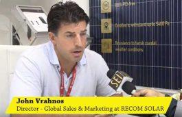 Interview with John Vrahnos, Director – Global Sales & Marketing, RECOM SOLAR