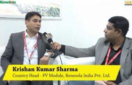 Interview with Krishan Kumar Sharma, Country Head – PV Module, Renesola India Pvt. Ltd.