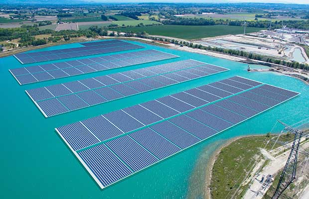 largest floating PV system in Europe from Trina Solar