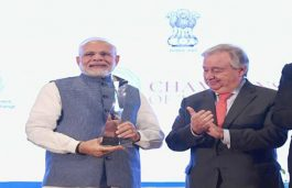 PM Modi Receives 'UNEP's Champions of the Earth' Award