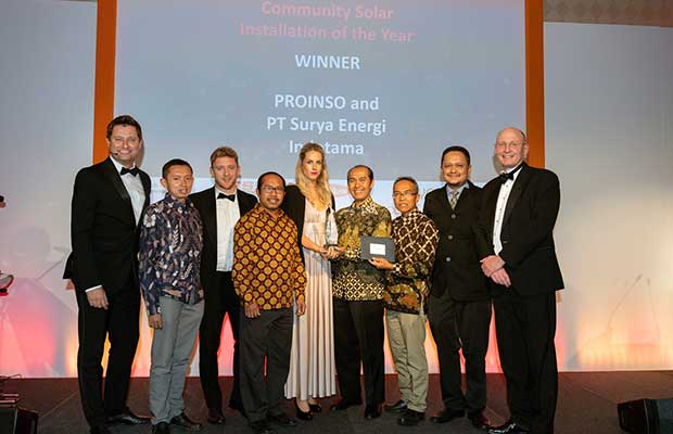 proinso and surya delegations received the award
