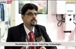 Interview with Shashidhara. BV, Head – SolarEdge Technologies (India) Pvt Ltd
