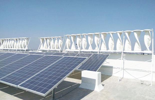 Solar-Wind Hybrid Power Plant