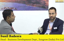 Interview with Sunil Badesra, Head – Business Development Dept. at Sungrow (India) Pvt Ltd