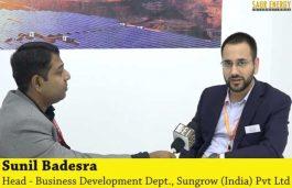 Interview with Sunil Badesra, Head – Business Development Dept. at Sungrow (India) Pvt Ltd