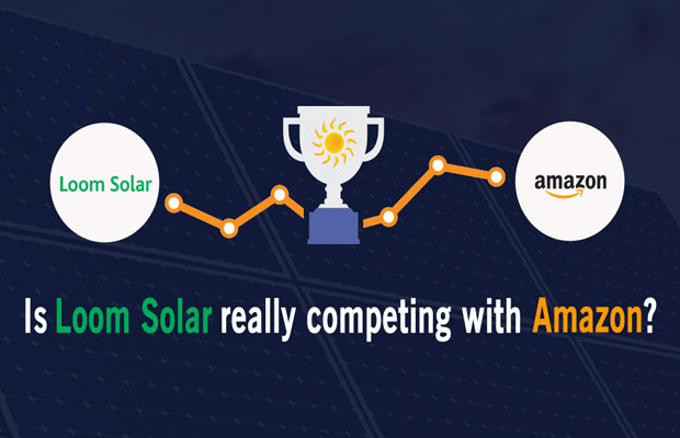 Loom Solar Competing with Amazon