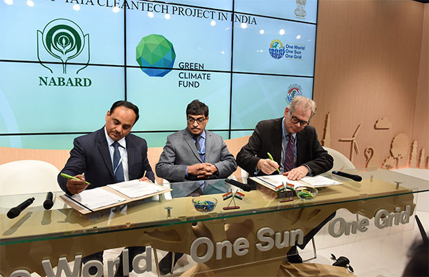 NABARD Inks USD 100 Million Pact with Green Climate Fund for Solar Rooftops