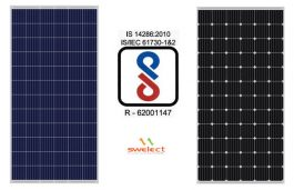 Swelect Gets BIS Certification for Solar PV Modules