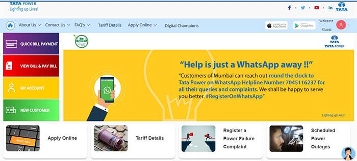 Tata Power site Portal