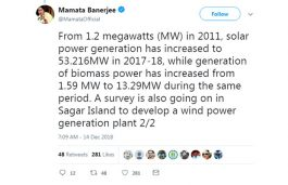 West Bengal Making Rapid Progress in Non-Conventional Sources of Energy: CM
