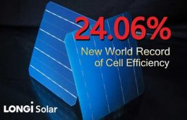 Longi Solar Sets New Bifacial Mono-PERC Solar Cell World Record at 24.06%