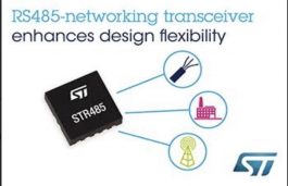 RS485-Networking Transceiver from STMicroelectronics Simplifies Design, Saves Board Space and Bill of Materials