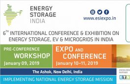 Energy Storage India 2019 to drive India's National Energy Storage Mission