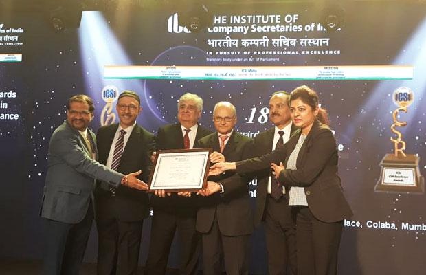 Tata Power Team Receiving the 3rd ICSI CSR Excellence Award