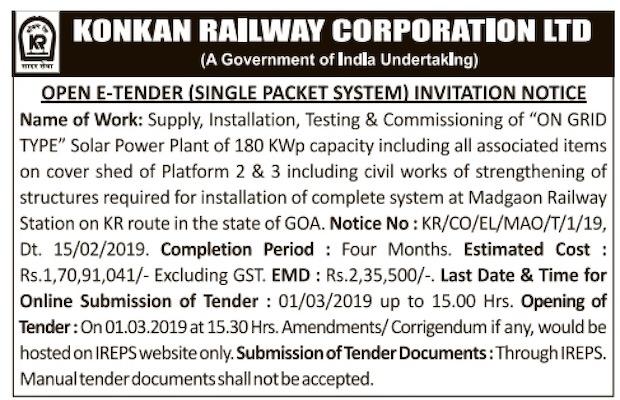 180 kW Solar Plant Goa