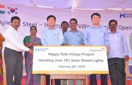 Hyundai Steel And World Vision India Install Solar Street Lights in 4 TN Villages