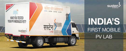 Mobile PV Lab developed in India by Mahindra Susten