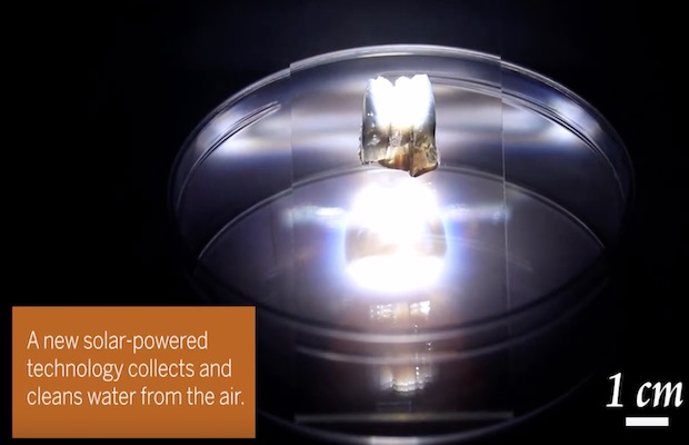 Solar-Powered Device Turning Air into Water