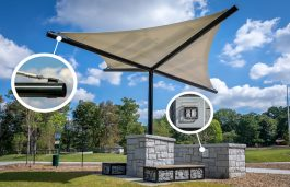 Pvilion's Solar Sail Canopy, Scalable For Shade and Power Needs