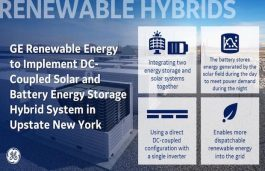 GE Renewable Energy to Implement Solar Plus Storage Hybrid Project in New York