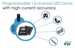 STMicroelectronics Launches 12-Channel LED Driver