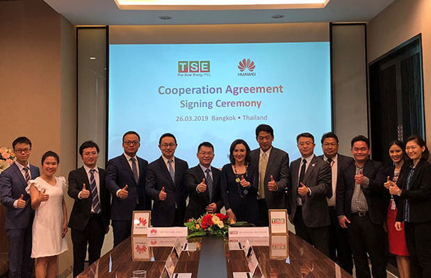 Thai Solar Energy Public Company and Huawei signed cooperation pact