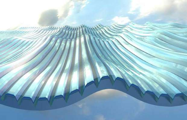 The new solar-cell design has a surface embossed with micro grooves