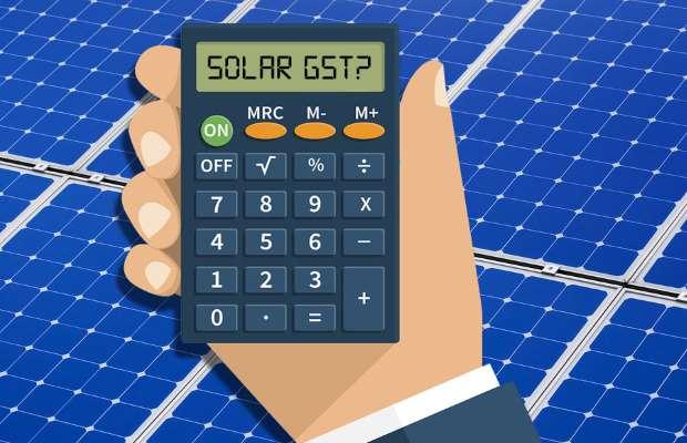 GST on Solar Sector