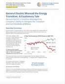 IEEFA Report on GE Misread the Energy Transition: A Cautionary Tale