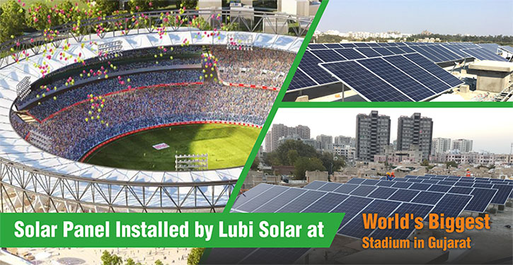 Largest Cricket Stadium to Go Solar energy with Lubi