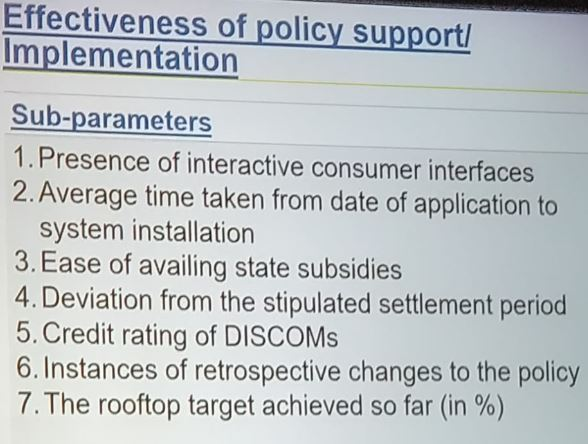 Effectiveness of policy support