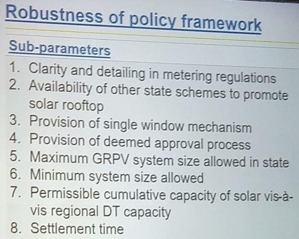 Robustness of policy framework
