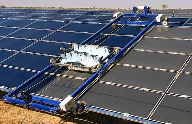 BHEL Solar Module Cleaning System