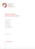 CPI Report on Global Landscape of Climate Finance 2019