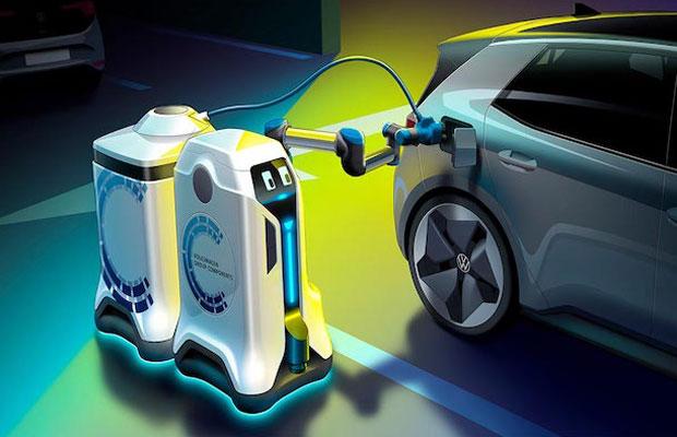 EV charging robot
