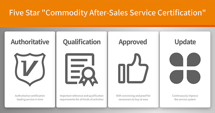 Five star Commodity after-sales service certification