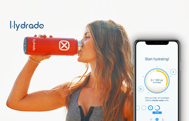 Hydrade - Solar Powered Double Wall Smart Bottle