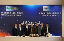 Renesola, Zhongnan Group in $100 Million Investment Agreement