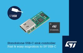 ST Brings VBUS-Powered Controller for 5V USB-C Charging Applications