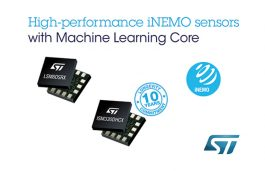 ST's iNEMO Sensors Offer Machine-Learning Technology for Industrial and Consumer Applications