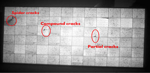 Fig. Cracks on modules