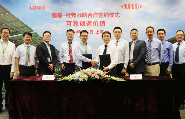 LONGi, Dupont Ink Strategic Cooperation Pact to Develop High-Quality Modules