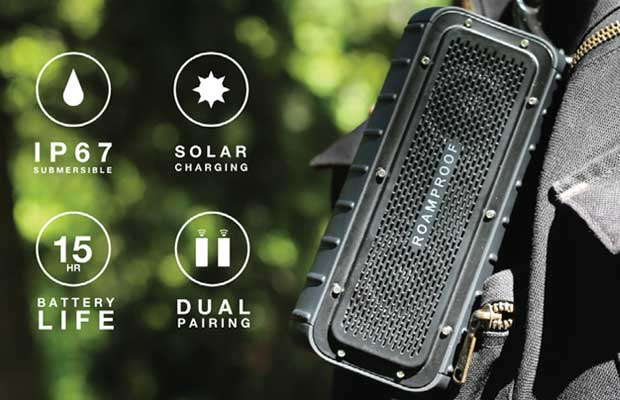 MacroBoom Portable Solar Speakers