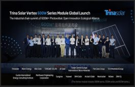 Trina Solar Becomes 1st Manufacturer to Launch 600W Solar Modules