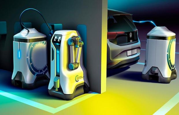 vw ev charging robot